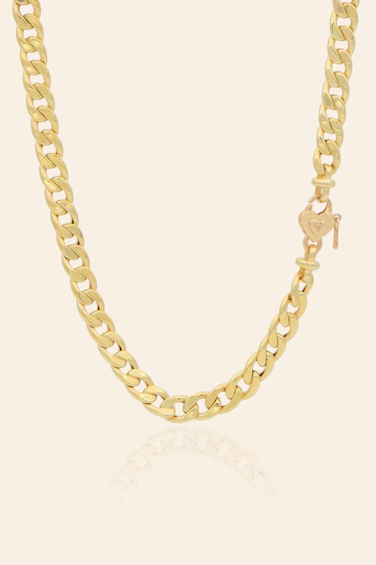 Sarı Altın Kalp Figürlü Kolye – 00921232