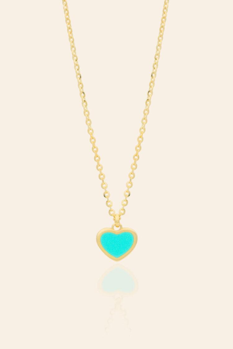 Sarı Altın Kalp Figürlü Kolye – 00976345