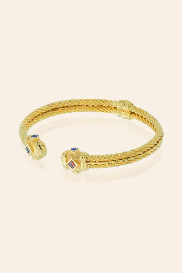 Altın Taşlı Kelepçe Bilezik – 00903900
