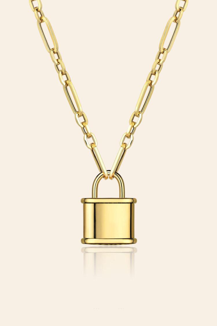 Bir Dilek Tut Altın Dilek Kilitli Kolye – 00959749