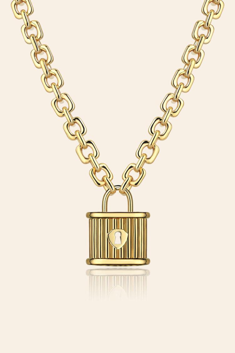 Bir Dilek Tut Altın Kilit Kolye – 00963254