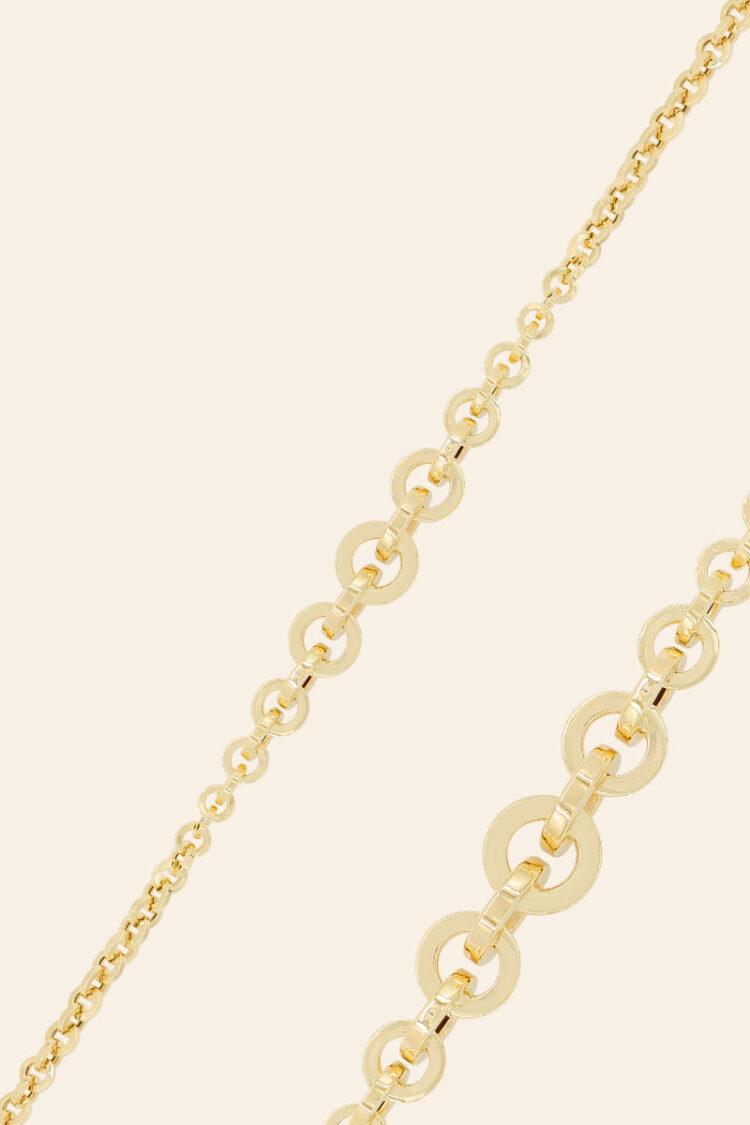 Sarı Altın Zincir Bileklik – 00955747